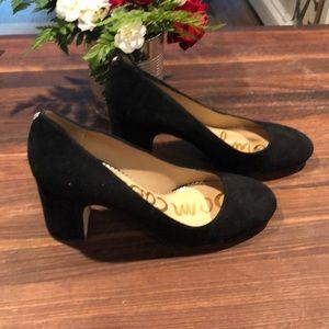 Sam Edelman black suede heels
